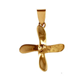 10064 - 4 Bladed Boat Propeller - Lone Palm Jewelry