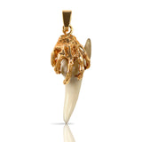10215t - Davy Jone's Hand with Shark Tooth Pendant