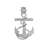 "10223 - 1 3/8"" Fouled Anchor with Ship's Wheel Bail - Lone Palm Jewelry"