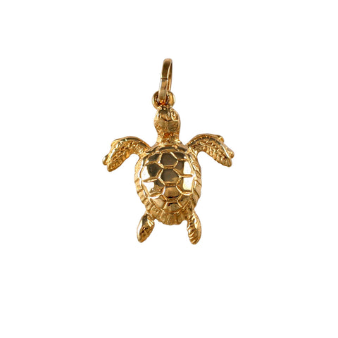 "10684 - 7/8"" Hollow Green Sea Turtle - Lone Palm Jewelry"