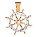 10400d - Ship's Wheel with Diamonds - Lone Palm Jewelry