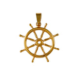 10400 - Large Ship's Wheel - Lone Palm Jewelry