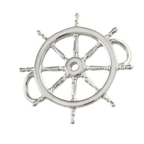 Large Ship's Wheel PopTop - Lone Palm Jewelry