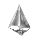 "10548 - Sailboat with High-Polish & Satin Finish Sails - 1 5/8"" - Lone Palm Jewelry"