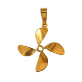 "10577 - 1"" 4 Bladed Boat Propeller Pendant"