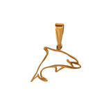 10631 - Dolphin Outline Pendant