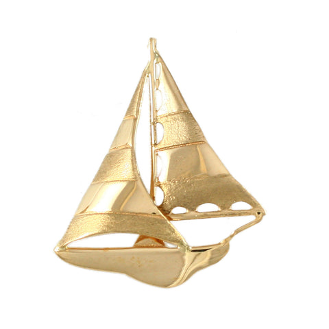 "10678 - 1"" Sloop Boat Pendant - Lone Palm Jewelry"