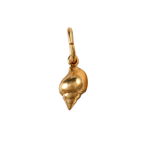 "10704 - 3/8"" Banded Tulip Shell Pendant"