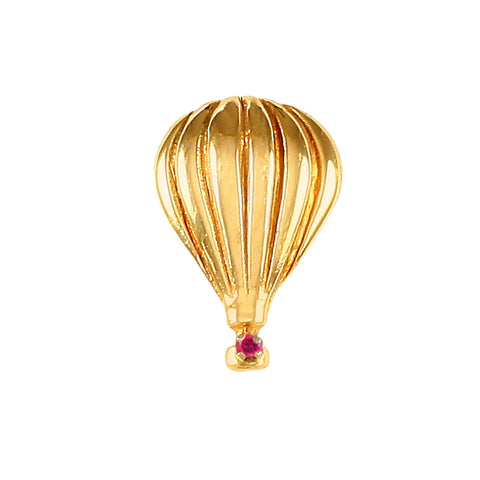 10710r - Hot Air Balloon with Ruby Basket