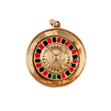 10831 - Enameled Spinning Roulette Wheel Charm