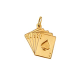 10832 - Straight Flush Hand of Cards Charm