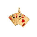 10838 - Enameled Royal Flush Hand of Cards