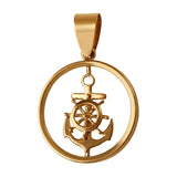 "10902 - 7/8"" Anchor with Ship's Wheel Pendant in Frame"
