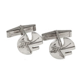"5/8"" Sterling Pell Logo UF Cuff Links - Cut Outs - Lone Palm Jewelry"