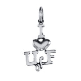 "3/4"" Sterling ""I (heart) U of F"" Pendant Charm - Lone Palm Jewelry"
