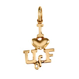 "11082 - 3/4"" ""I (heart) U of F"" Pendant Charm - Lone Palm Jewelry"