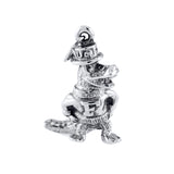 "7/8"" Silver 3-D Albert in Top Hat Gator - Lone Palm Jewelry"