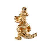 "11087 - 7/8"" 3-D Albert in Top Hat Gator - Lone Palm Jewelry"