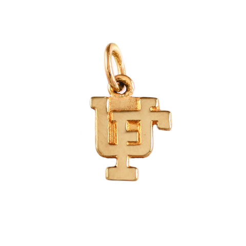 "11110 - 3/8"" Overlapping UF Charm - Lone Palm Jewelry"