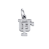 "3/8"" Sterling Overlapping UF Charm - Lone Palm Jewelry"