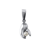 "11207p - 1/2"" Lobster Claw & Pearl Pendant - Lone Palm Jewelry"