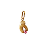 "1/2"" Lobster Claw & Pink Tourmaline Pendant - Lone Palm Jewelry"
