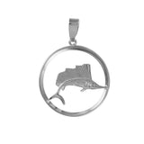 "11220 - 1 1/4"" Sailfish Pendant in Round Frame"