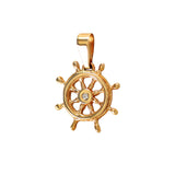 11225d - Ship's Wheel with Diamond Pendant