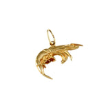 "9/16"" Shrimp Charm - Lone Palm Jewelry"