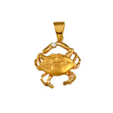 11307d - Blue Crab with Diamond - Lone Palm Jewelry