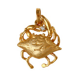 "11308d - 5/8"" 3D Blue Crab with Diamond"