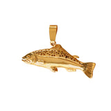 "11314 - 1 1/8"" Hollow Salmon Pendant"