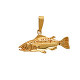 "11320 - 1 1/8"" Hollow Salmon Pendant"