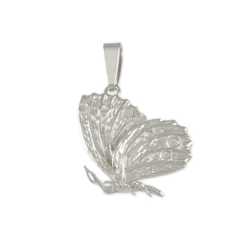 Butterfly Profile Charm - Lone Palm Jewelry