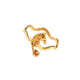12188 - Seahorse on Wavy Band - Lone Palm Jewelry