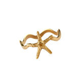 12304 - Starfish on Wavy Band - Lone Palm Jewelry