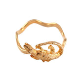 12331 - Wavy Alligator Ring - Lone Palm Jewelry