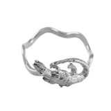 Wavy Alligator Ring in Sterling - Lone Palm Jewelry