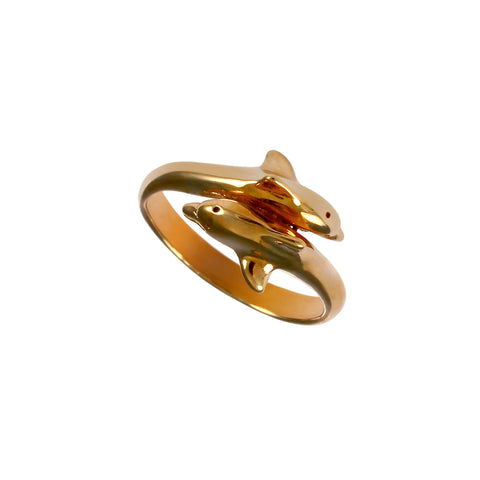 12352 - Passing Dolphins Ring - Lone Palm Jewelry
