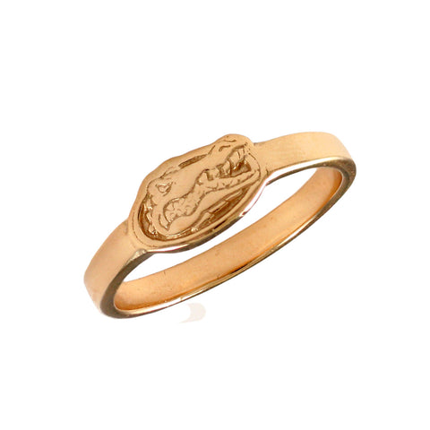 12533 - Albert Gator Head Logo 14k Ring