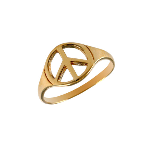 12538 - Peace Symbol Ring - Lone Palm Jewelry