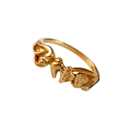 12858 - Embellished Shell Ring - Lone Palm Jewelry