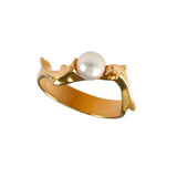12859 - Dolphin and Pearl Ring - Lone Palm Jewelry