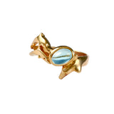 12862 - Dolphin and Blue Tourmaline Ring - Lone Palm Jewelry