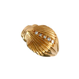 12867d - Diamond Sea Shell Ring - Lone Palm Jewelry