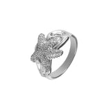 12876 - Embellished Starfish Ring - Lone Palm Jewelry