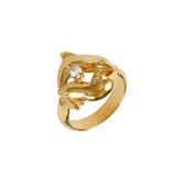 12881 - Intertwined Dolphins with Diamond Ring - Lone Palm Jewelry