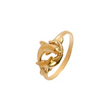 12891 - Intertwined Dolphin Ring - Lone Palm Jewelry