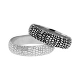 12917 - Gator Skin Wedding Band