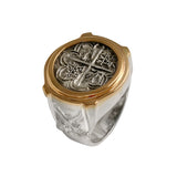 Atocha Silver Historical Spanish Coin Replica Ring - Item #12928